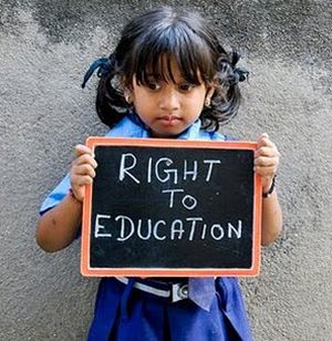 We demand the fundamental right; Right to Education NOW!