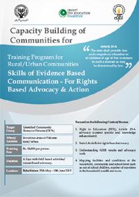 Training Program for Rural/Urban Communities