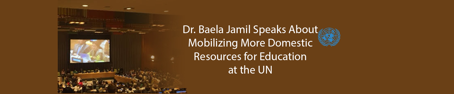 Dr. Baela Jamil Speaks About Mobilizing More Domestic Resources for Education at the UN