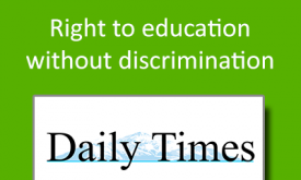 Right to education without discrimination