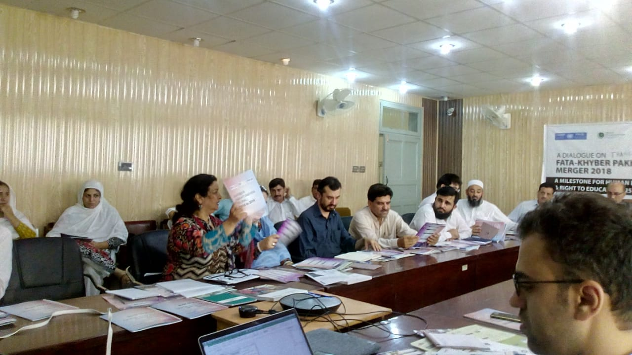Brief with Technical Notes KP –FATA Transition Dialogue Held in Peshawar for Extending Article 25 A – a milestone for human development and right to education