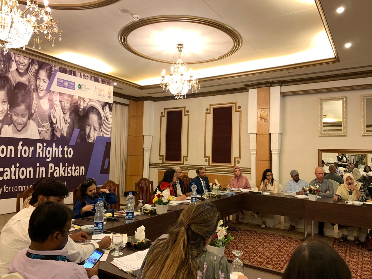 PLEDGES MADE FOR ACCELERATING ACTIONS TO IMPLEMENT RIGHT TO EDUCATION (RTE) 25-A LEGISLATION IN SINDH TO MEET TARGETS OF SDGS 2030 & SDG 4
